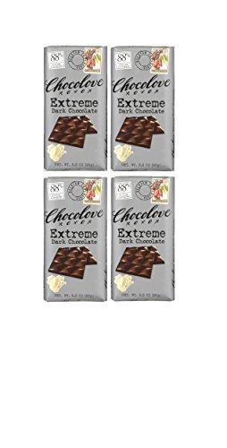 Chocolove Extreme 88% Dark chocolate 3.2 oz (Pack of 4 bars)
