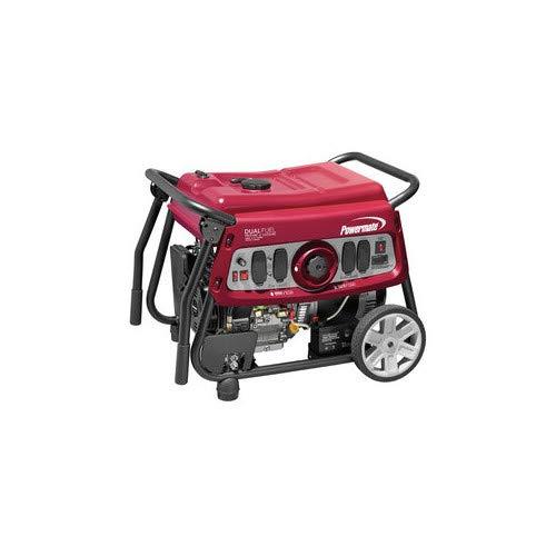 Powermate 6958 DF7500E 7500 Watt Dual Fuel Portable Generator - Electric Start/CSA Compliant