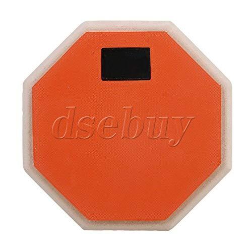 FidgetGear 165mm x 27mm Orange Rubber Wood Portable 2-Sided Practice Pad ()