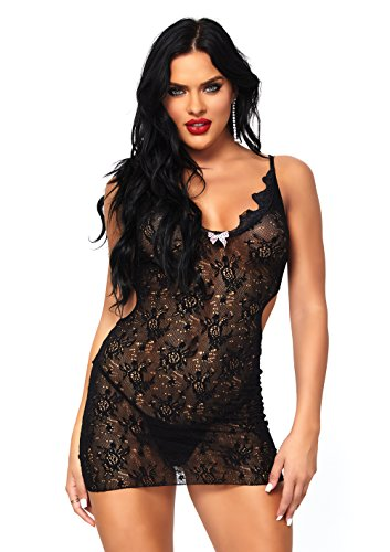 Leg Avenue Boudoir Rose Lace Mini Dress