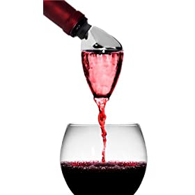 Rabbit Wine Aerator and Pourer (Stainless Steel/Bl...