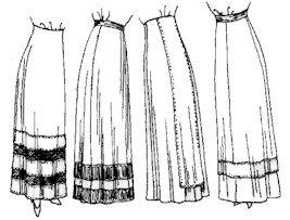 1910 - 1915 Skirts Pattern