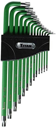 Titan Tools 12715 Extra-Long Arm Tamper Resistant Star Key Set - 13 Piece (Tamper Proof Key Set)