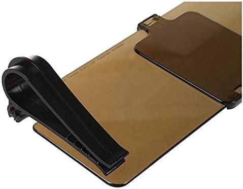 Naliovker Durable Neu Sonnenschutz Blendschutz Blendfreier Auto-Sonnenblendenspiegel Zum Aufstecken
