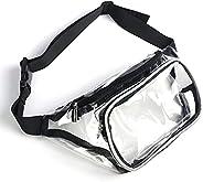 Clear Fanny Pack Water-Resistant Waist Packs for Men Women Festival Waist Bag Running Belt Bags with Adjustabl