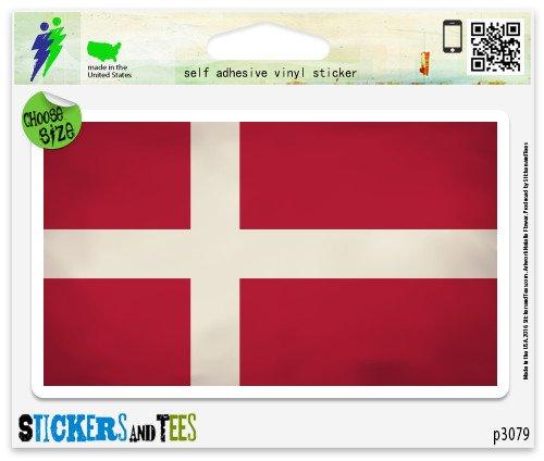Denmark Flag Grunge Design Vinyl Car Bumper Window Sticker 3