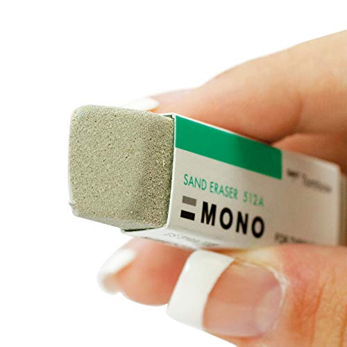 Tombow 67304 MONO Sand Eraser, 2-Pack. Silica Eraser Designed to Remove Colored Pencil and Ink Markings by Tombow (Image #2)