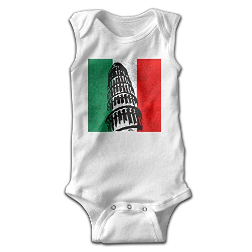 Newborn Tower On An Italian Flag Sleeveless Onesies Outfits (80s Guy Outfit)