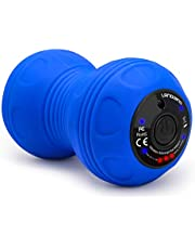 LANDWIND Vibrierender Massageball Peanut, 4. Gang High Intensity Yoga Fitness Elektrische Massagerolle für Muskel und Plantar, Wiederaufladung mit Netzteil, Schmerzlinderung, Muskelspannung