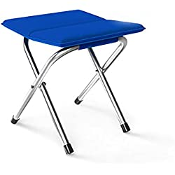 SANNIX Mini Portable Folding Stool Outdoor Folding Stool for Camping Fishing Travel Hiking Garden Beach Quickly-Fold Chair Oxford Cloth Blue