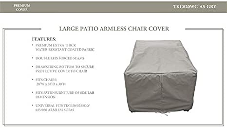 Tk Classics Tkc020wc As Gry Barbados Florence Miami Fairmont Cape Cod Venice Manhattan Laguna Armless Protective Grey Covers And Storage Garden Outdoor