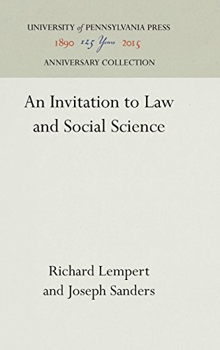 An Invitation to Law and Social Science (Law in Social Context)