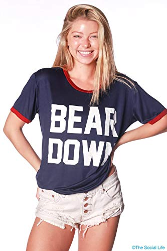 Down Ringer - Official NCAA Venley University of Arizona Wildcats U of A Wilber Wildcat BEAR DOWN! Relaxed Ringer Tee