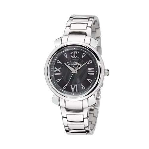 Just Cavalli Ladies Glam Analogue Watch R7253179523 with Quartz Movement, Stainless Steel Bracelet and Black Dial