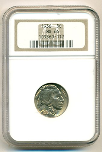 1936 Buffalo Nickel MS66 NGC