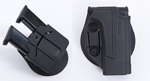 Orpaz HK - USP Holster Polymer 360 With Rotation Paddle + Two Double Stack 9mm Metal Magazines Made in Israel by Orpaz