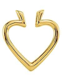 Bonyak Jewelry 14k Yellow Gold 19.5x18.25 mm Heart Pendant Enhancer