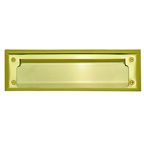 Ultra Hardware Brass Plated Steel Mail Slot