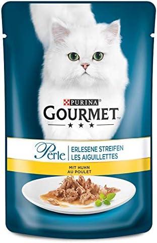 PURINA GOURMET Perle Erlesene Streifen Katzenfutter nass, verschiedene Sorten, 24er Pack (24 x 85g)