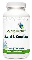 Acetyl-L-Carnitine   500 mg   90 Vegetarian Capsules   Seeking Health