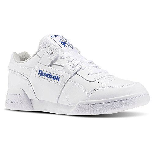 Reebok Men's Workout Plus Cross Trainer, White/Royal, 10 M US (Mens Reebok Spring)