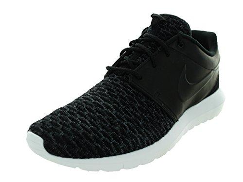 Nike Mens Roshe Nm Flyknit Prm Scarpa Da Corsa Nero / Nero-grigio-bianco Scuro