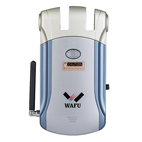 WAFU Wireless Electronic Lock Remote Control Keyless Entry Door Lock with 4 Remote Controllers for Home Security
