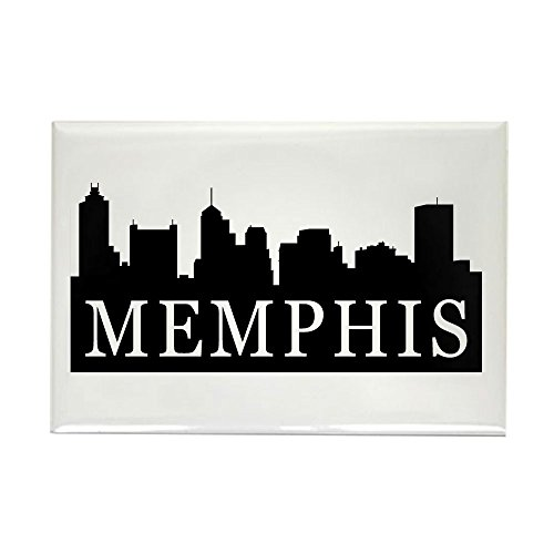 CafePress - Memphis Skyline - Rectangle Magnet, 2
