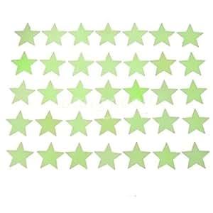 Kit De 100 Estrellas Fosforescentes Decorativas Verdes