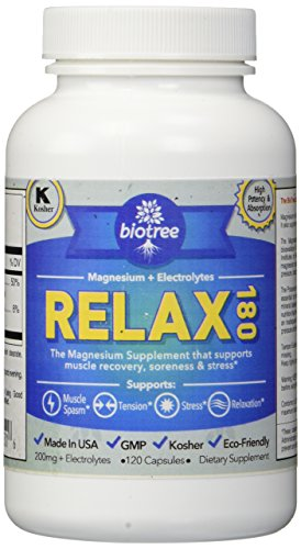 BioTree Labs Relax 180 – Magnesium and Potassium Supplement with Electrolytes that Relieves Muscle Pain, Spasms, and Tension and Provides Stress Relief Review