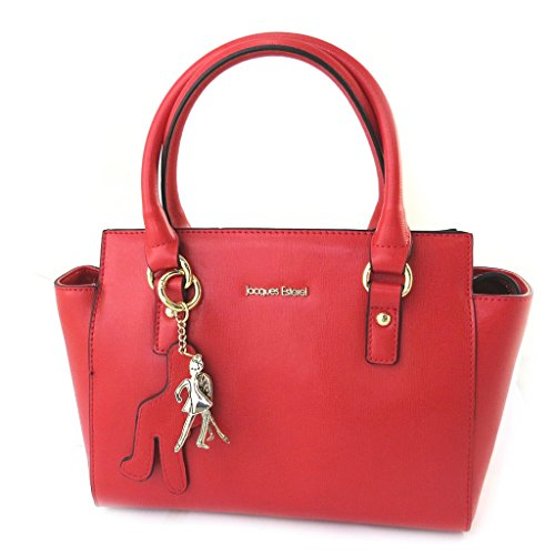 Bolsa de cuero 'Jacques Esterel'de color rojo.