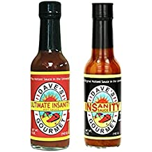 Bundle of 2 flavours - Dave's Original Insanity Hot Sauce (5oz) and Dave's Ultimate Insanity Hot Sauce (5oz)