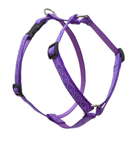 "LupinePet Originals 3/4"" Jelly Roll 20-32"" Adjustable Roman Dog Harness for Medium Dogs"