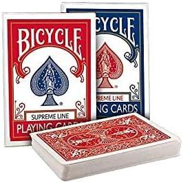 Tavoloverde 2 mazzi di Carte da Gioco Bicycle Supreme 1 Dorso Blu e 1 Dorso  Rosso: Amazon.it: Giochi e giocattoli