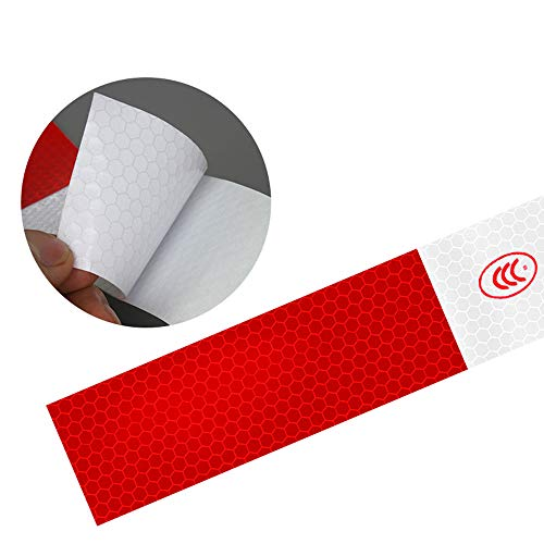 10pcs/Set Car Reflective Stickers Warning Strip Reflective Truck Auto Night Driving by BENBW (Image #6)