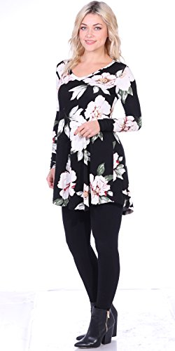 6b4c0ecaa463e Popana Women s Tunic Tops for Leggings Long Sleeve Shirt Plus Size Made in  USA Small ST85