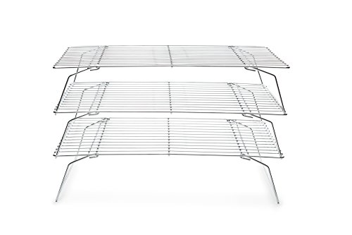 Fox Run 4698 Stackable Cooling Rack Set, Chrome, 3-Piece