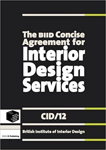 Buy The Biid Concise Agreement For Interior Design Services Cid 12 Book Online At Low Prices In India The Biid Concise Agreement For Interior Design Services Cid 12 Reviews Ratings Amazon In