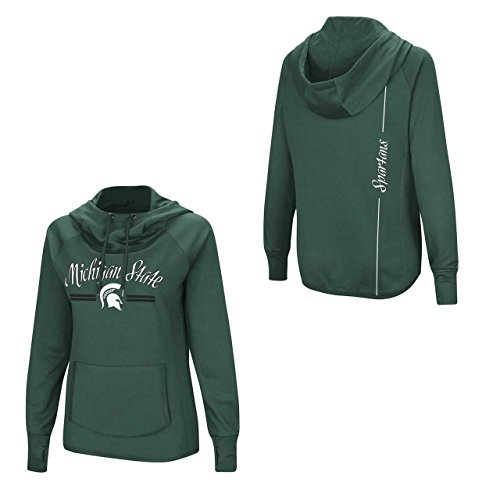 Colosseum Women's NCAA-Mawage Funnel Neck Hoodie Pullover Sweatshirt-Michigan State Spartans-Green-Small