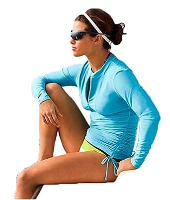 Double Z.C Womens UV Sun Protection Long-Sleeve Rash Guards Swimwear Swimsuit