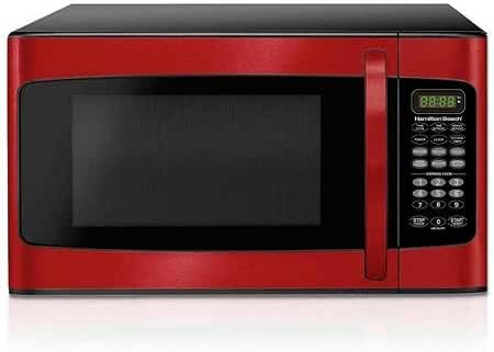 Hamilton Beach 1.1 cu ft Microwave, Red