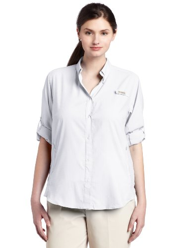 Columbia Women's Tamiami II Long Sleeve Shirt,White,2X