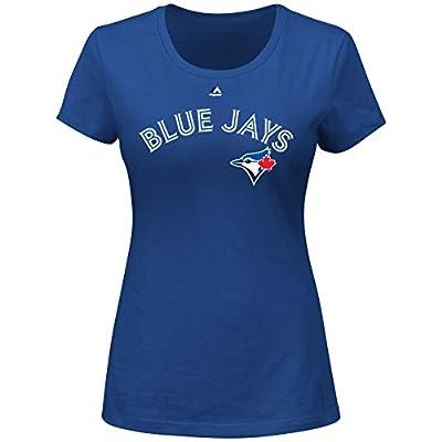 Majestic Athletic Josh Donaldson Toronto Blue Jays #20 MLB Women's Name & Number Player T-shirt (XXlarge)