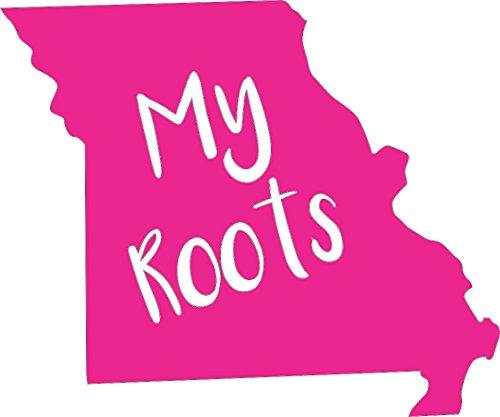 Barking Sand Designs Missouri My Roots Pink - Die Cut Vinyl Window Decal/Sticker for Car/Truck 6
