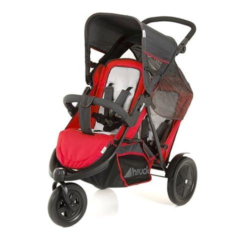 Hauck 513019 Freerider SH 12 - Silla de paseo doble (3 ruedas, sillas desmontables), color rojo: Amazon.es: Bebé