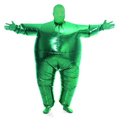 Full Body Halloween Costume (Spooktacular Creations Inflatable Costume Full Body Suit Halloween Costume Adult Size - Metallic Shiny)