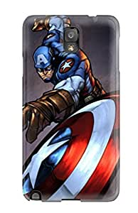 Flexible Tpu Back Case Cover For Galaxy Note 3 - Captain America Iron Man