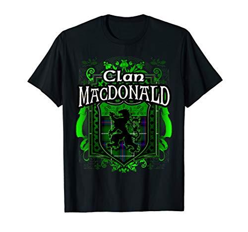 (Scottish Surname Clan MacDonald Tartan Lion Crest T-shirt)