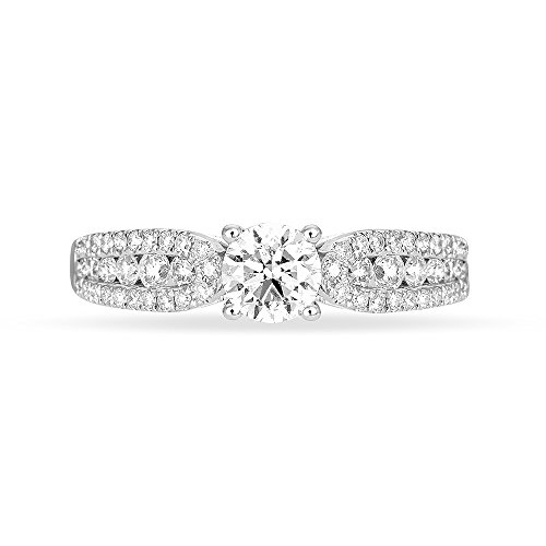 HISTOIRE D'OR - Solitaire Stockholm Or Blanc Diamant - Femme - Or blanc 375/1000