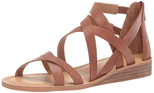 Lucky Brand Women's Helenka HIGH Heel Wedge Sandal, Umber, 6.5 M -